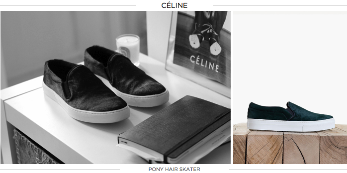 celine skate flats, celine shoes, pony hair shoes, slide on shoes, designer shoes, amber venz, venzedits
