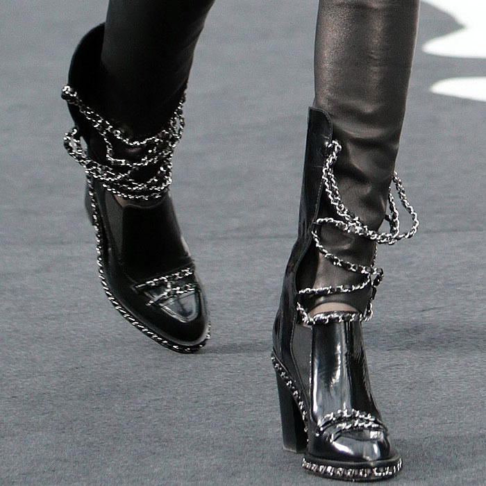chanel boots, chanel fall 2013, black boots,