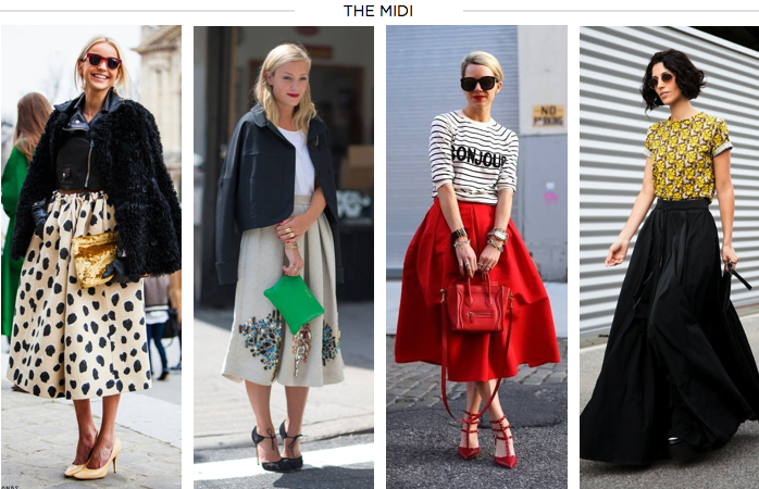 midi skirt, blair eadie, yasmin sewell, amber venz, venzedits, kate foley, paris fashion week, fall trend