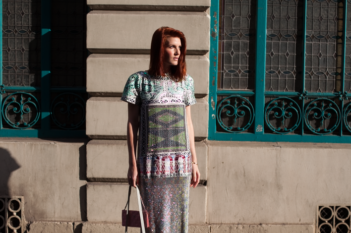 amber venz, vogue germany, schnati, rewardstyle, venzedits, mary katrantzou dress