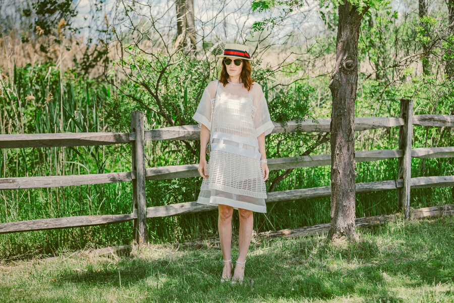 amber venz box, verve clicquot polo classic, street style, new york polo, venzedits, chloe dress, boater hat