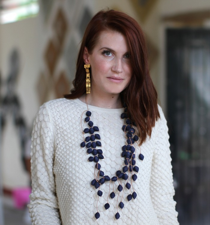 amber venz box recycled paper factory, paper necklace, travel blogger