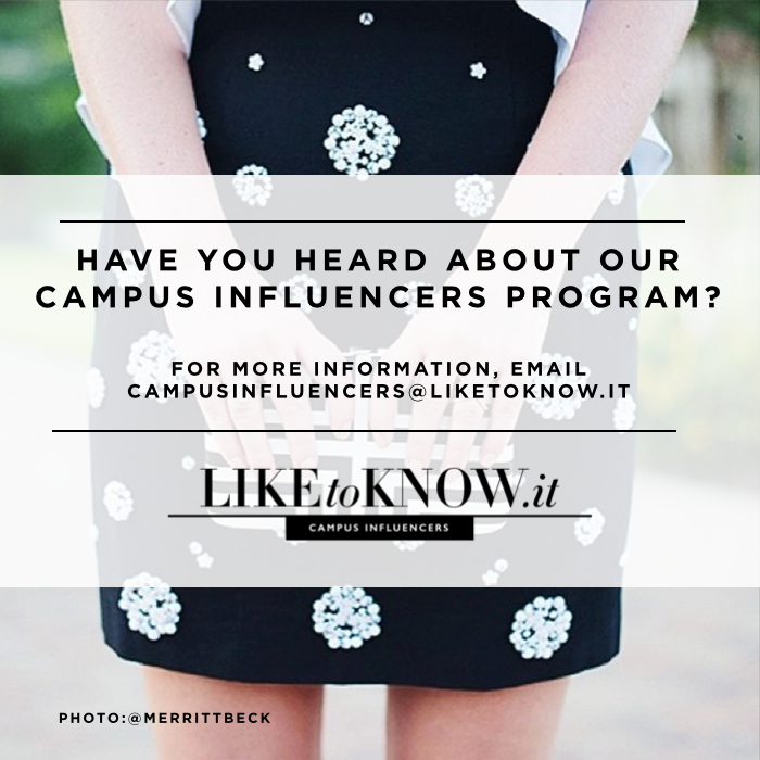 liketoknow.it campus influencer program, instagram marketing, rewardstyle
