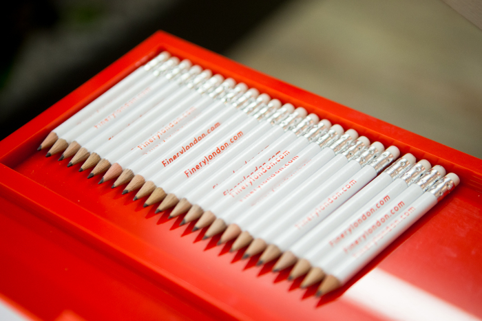 branded pencils, Finery London