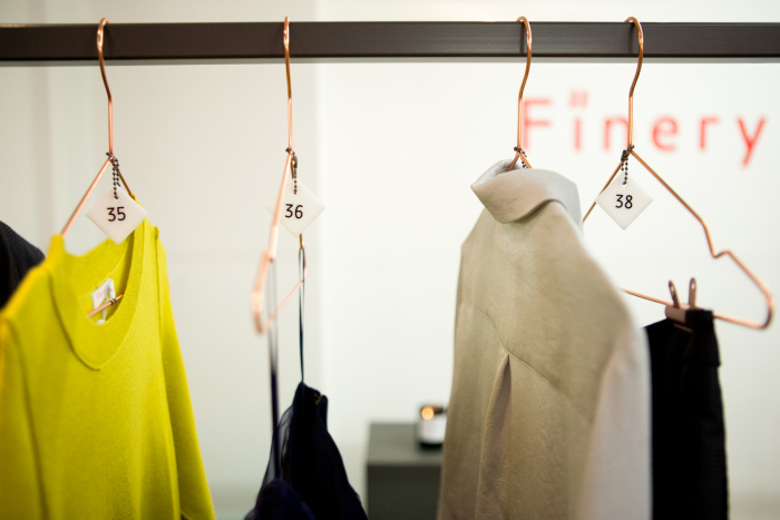 Finery London pop-up hangers