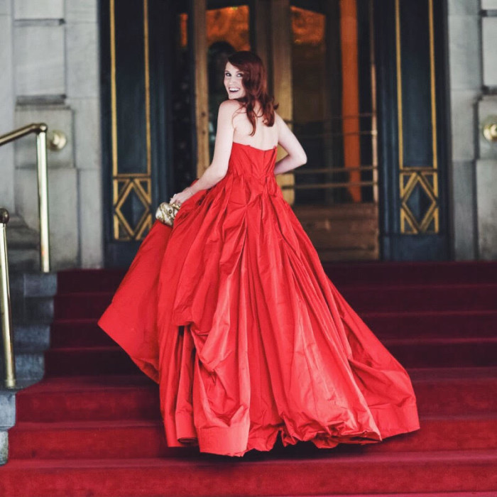 On the Plaza Hotel Steps Before The CFDA Awards
