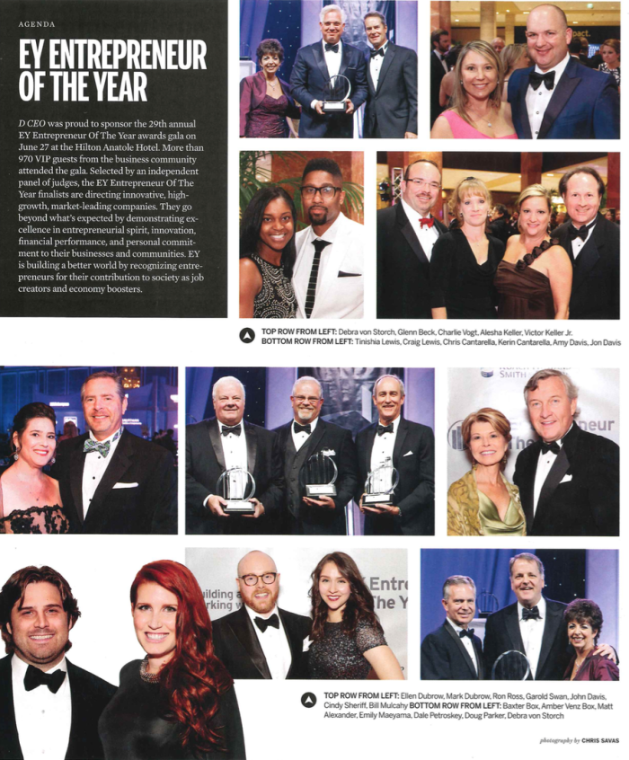 D CEO September Issue Ernst & Young Entrepreneur of the Year Awards