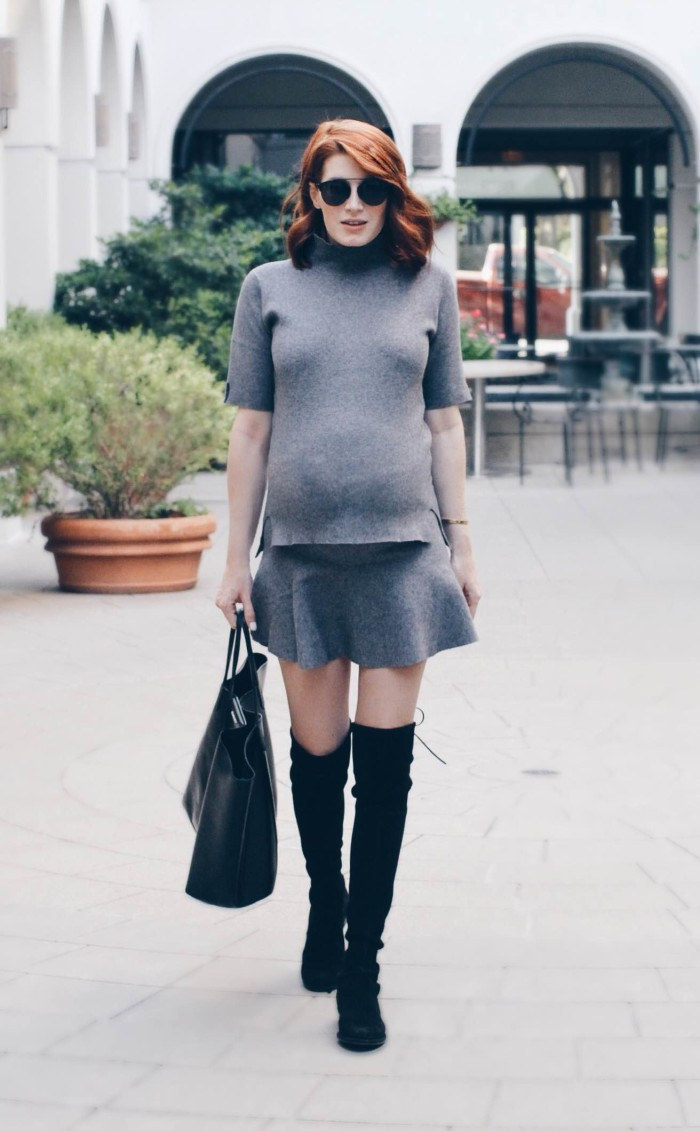 Over the Knee Boots and Sweater Set Top and Skirt Amber Venz Box