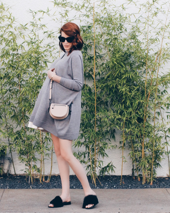 Amber-Venz-Box-Sweater-Dress-Tibi-Slides