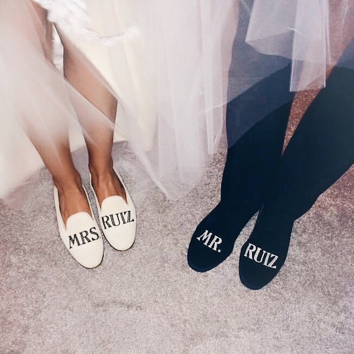 Personalized Mr and Mrs Smoking Slippers