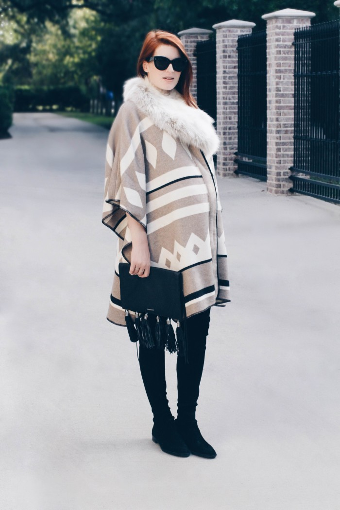 Amber-Venz-Box_Poncho_Over-the-Knee-Boots
