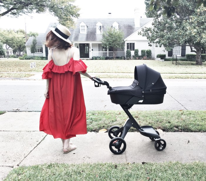 New-Mom-Dress-Anna-October_Gladys-Tamez-Millinery_Stokke