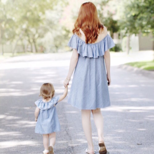 MommyDaughterChambrayDress